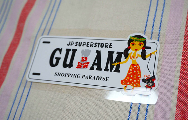guam_グアムロゴのステッカー