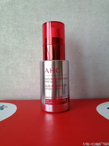 AHCのサンセラム NATURAL PERFECTION PRO SHIELD