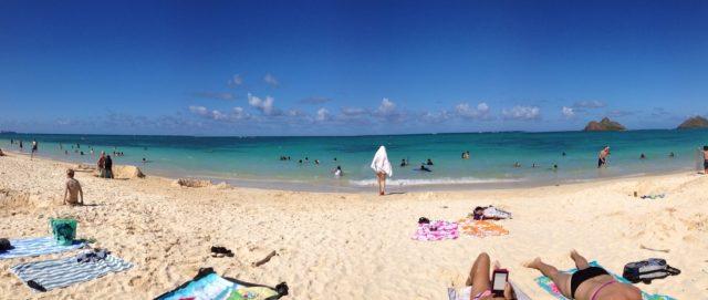 ラニカイビーチでのんびり