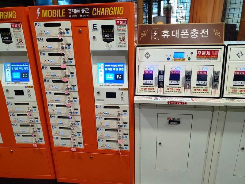 有料の携帯充電ボックス