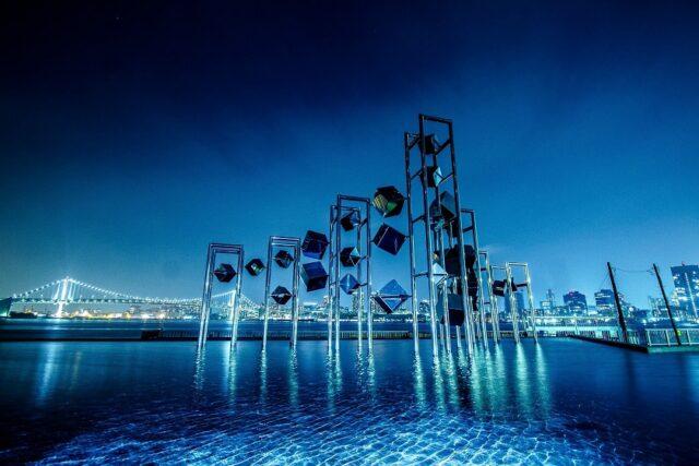 晴海客船ターミナルで夜景を見る