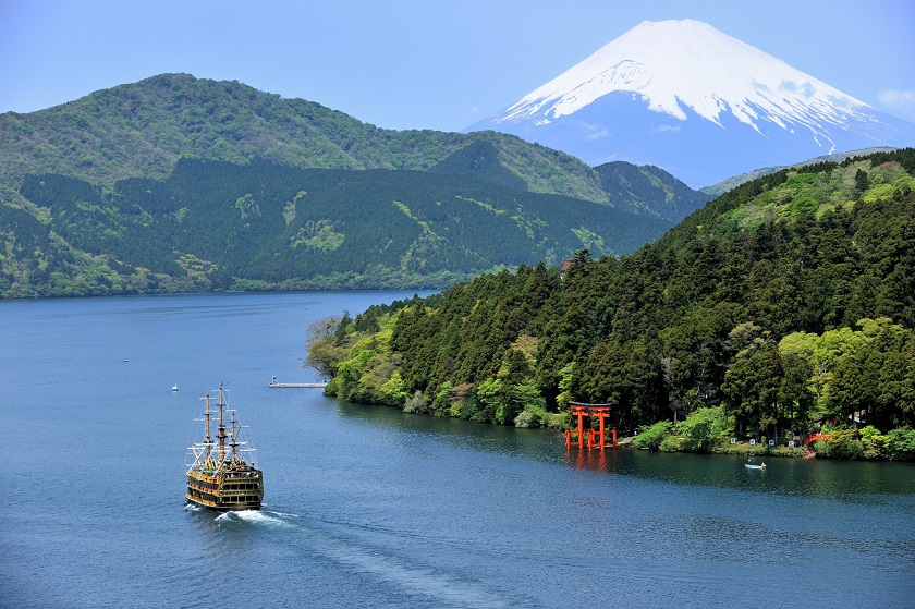 箱根海賊船 上空ひき