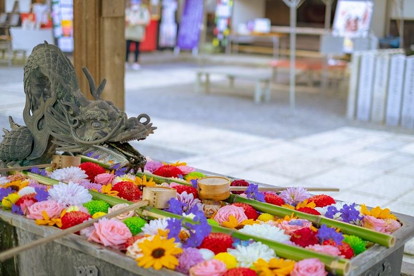 四季を彩る花手水1