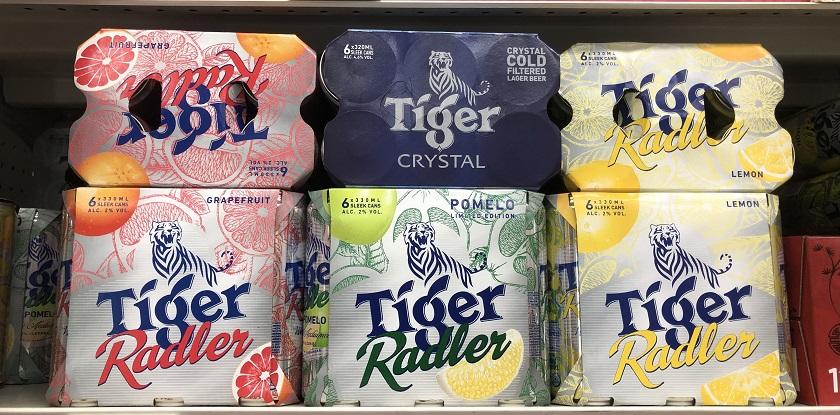 タイガー・ラドラー ※左からグレープフルーツ・ポメロ・レモン