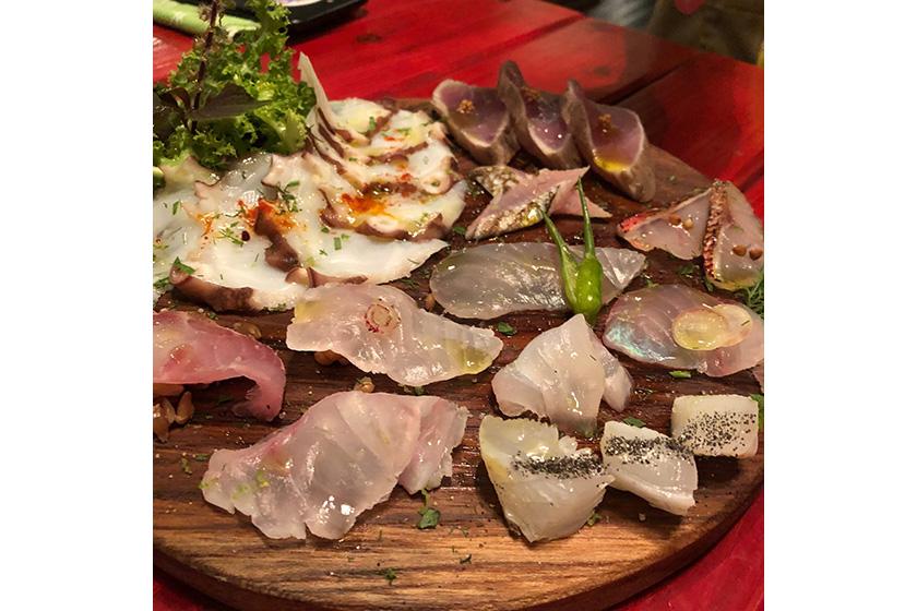 宮古島魚介のカルパッチョ